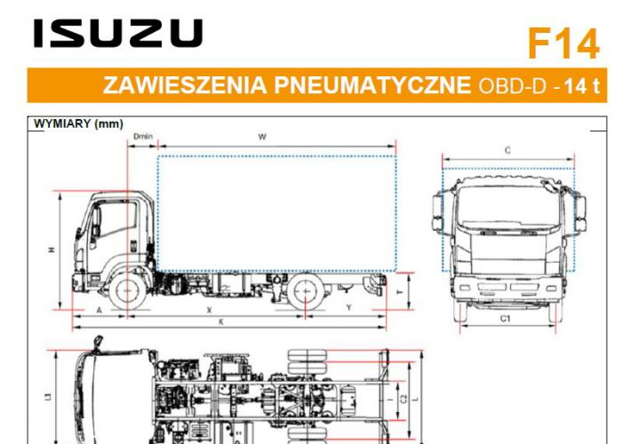 Katalóg Isuzu F14 Zawieszenia pneumatyczne