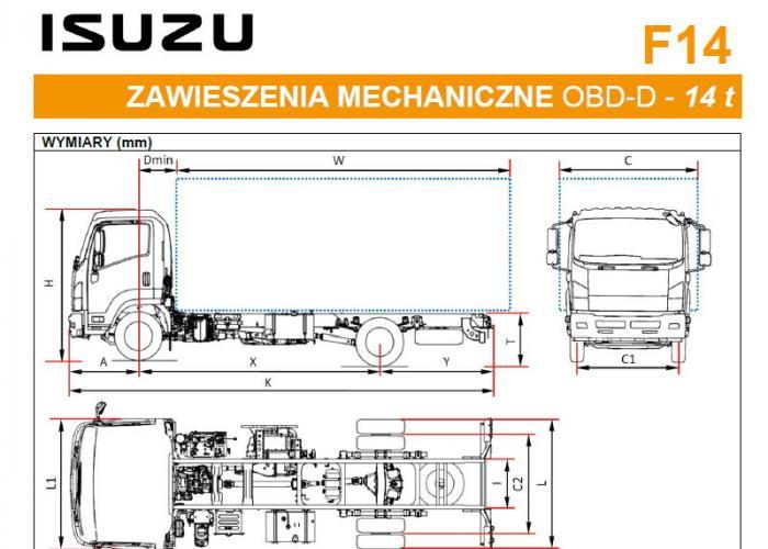 Katalóg Isuzu F14 Zawieszenia mechaniczne