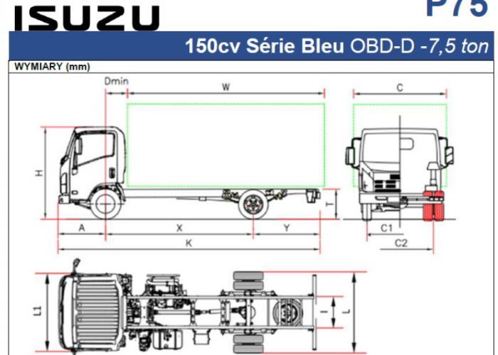 Opis techniczny Isuzu P75 150cv