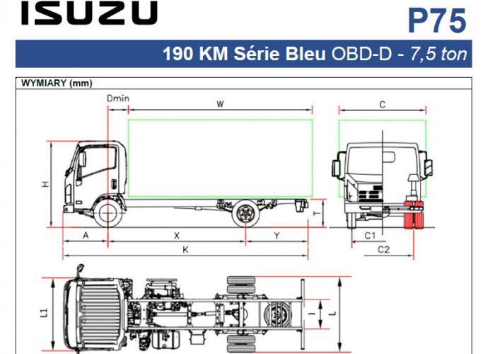Opis techniczny Isuzu P75 190 km