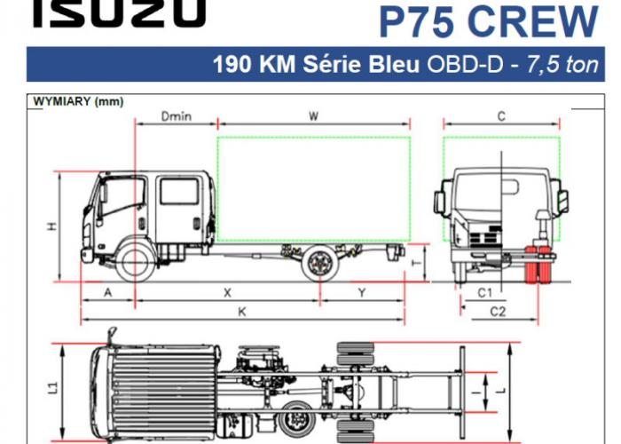 Opis techniczny Isuzu P75 CREW 190 km